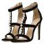 รองเท้าส้นสูงสายถักเปียสีดำ/แอพพริคอท ไซต์ 35-40 thumbnail 8