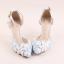 รองเท้าเจ้าสาว ไซต์ 34-39 สีฟ้า สูง 3.6 / 4.8 / 5.6 นิ้ว thumbnail 3
