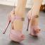 รองเท้าส้นสูงสีชมพู/เทา ไซต์ 34-39 thumbnail 5