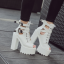 รองเท้าส้นสูงส้นหน้าหุ้มข้อสีน้ำตาล/ดำ/ขาว ไซต์ 34-39 thumbnail 2