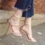รองเท้าส้นสูงสีชมพู/ดำ ไซต์ 34-39 thumbnail 6