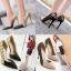 รองเท้าส้นสูงปลายแหลมสีทอง/ชมพูนู๊ด ไซต์ 35-40 thumbnail 1