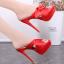 รองเท้าส้นสูงแบบสวมสีชมพู/แดง/ดำ ไซต์ 34-39 thumbnail 6