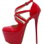 รองเท้าส้นสูงสีแดง/ดำ ไซต์ 34-40 thumbnail 8