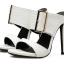 รองเท้าส้นสูงแบบสวมสีดำ/ขาว ไซต์ 35-40 thumbnail 8