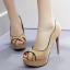 รองเท้าส้นสูงสีน้ำตาล/ดำ ไซต์ 34-39 thumbnail 3