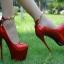 รองเท้าส้นสูง ไซต์ 34-38 สีดำ สีแดง สีขาว thumbnail 3