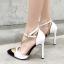 รองเท้าส้นสูงปลายแหลมสีขาว/ดำ ไซต์ 35-40 thumbnail 6