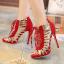 รองเท้าส้นสูงสีแดง/ดำ ไซต์ 35-40 thumbnail 3