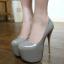 รองเท้าส้นสูงหนังแก้วสีแดง/ดำ/เทา/ฟ้า ไซต์ 34-40 thumbnail 9