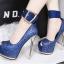 รองเท้าส้นสูงเปิดหน้าสีน้ำเงิน/แดง/เทา/เงิน (สามารถถอดสายรัดข้อออกได้) thumbnail 11