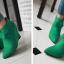 รองเท้าส้นเตารีดปลายแหลมสีชมพู/ดำ/เขียว ไซต์ 34-43 thumbnail 10