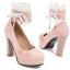 รองเท้าส้นสูงคัดชูสีชมพู/ดำ/ขาว ไซต์ 34-43 thumbnail 10
