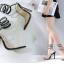 รองเท้าส้นสูงสายเกลียวพันรอบขาสีดำ ไซต์ 35-40 thumbnail 2