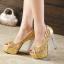 รองเท้าส้นสูงส้นแก้วสีเงิน/ทอง/ดำ ไซต์ 34-39 thumbnail 6