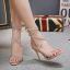 รองเท้าส้นสูงสายคาดติดคริสตัลสีน้ำตาล/ดำ ไซต์ 35-40 thumbnail 5