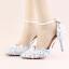 รองเท้าเจ้าสาว ไซต์ 34-39 สีฟ้า สูง 3.6 / 4.8 / 5.6 นิ้ว thumbnail 5