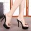 รองเท้าส้นสูงแบบสวมสีดำ/ชมพู ไซต์ 34-39 thumbnail 3