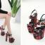 รองเท้าส้นสูงลานสก๊อตสีแดง ไซต์ 34-40 thumbnail 3