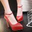 รองเท้าส้นสูงปลายแหลมเก็บทรงสีทอง/เงิน/ดำ/แดง ไซต์ 34-43 thumbnail 9