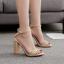 รองเท้าส้นสูงแต่งคริสตัลเม็ดเล็กสวยหรูสีดำ/แดง/ครีม ไซต์ 35-40 thumbnail 3