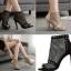 รองเท้าส้นสูงสีแอพพริคอท/ดำ ไซต์ 35-40 thumbnail 1