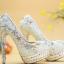 รองเท้าเจ้าสาวสีขาว ไซต์ 34-40 สูง 5.6 / 4.4 / 3.2 นิ้ว thumbnail 7