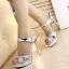 รองเท้าส้นสูงแบบสวมสีเงิน/ทอง ไซต์ 34-38 thumbnail 4