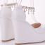 รองเท้าส้นเตารีดเจ้าสาวสีขาว ไซต์ 34-41 thumbnail 2