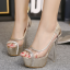 รองเท้าส้นสูง ไซต์ 34-39 สีทอง/เงิน thumbnail 2