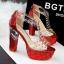 รองเท้าส้นสูง ไซต์ 34-39 สีดำ สีแดง สีเงิน สีทอง สีชมพูอ่อน สีน้ำเงิน thumbnail 2