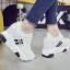 รองเท้าผ้าใบเสริมส้น ไซต์ 35-39 สีขาว/ดำ thumbnail 6
