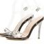 รองเท้าส้นสูงแบบหรูสีดำ/ขาว ไซต์ 35-40 thumbnail 9