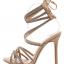 รองเท้าส้นสูงสายคาดติดคริสตัลสีน้ำตาล/ดำ ไซต์ 35-40 thumbnail 7