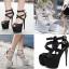 รองเท้าส้นสูงสีเงิน/ดำ ไซต์ 35-40 thumbnail 1