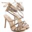 รองเท้าส้นสูงสายคาดติดคริสตัลสีน้ำตาล/ดำ ไซต์ 35-40 thumbnail 6