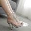 รองเท้าส้นสูงสีเงินประดับคลิสตัล ไซต์ 35-40 thumbnail 9