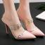 รองเท้าส้นสูงปลายแหลมแบบสวมสีแดง/ชมพู/ดำ/ครีม ไซต์ 34-38 thumbnail 4