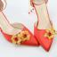 รองเท้าเจ้าสาวสีแดงปลายแหลม ไซต์ 34-38 thumbnail 4