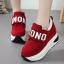 รองเท้าผ้าใบเสริมส้นสีแดง/ดำ/เทา ไซต์ 35-40 thumbnail 4