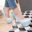 รองเท้าส้นสูงคัดชูสีฟ้า/ชมพู/ครีม/ดำ ไซต์ 34-43 thumbnail 5