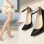 รองเท้าส้นสูงปลายแหลม 5.2 นิ้ว สีดำ/แดง/เงิน/ทอง/น้ำเงิน ไซต์ 35-43 thumbnail 12