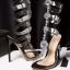 รองเท้าส้นสูงแต่งคริสตัลดูสวยหรู สีพื้นดำ/ขาว/นู๊ด ไซต์ 34-43 thumbnail 17