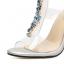 รองเท้าส้นสูงสีเงินประดับคลิสตัล ไซต์ 35-40 thumbnail 7