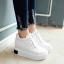 รองเท้าผ้าใบเสริมส้น ไซต์ 34-43 สีขาว/ดำ/ครีม thumbnail 5