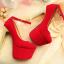 รองเท้าส้นสูง ไซต์ 34-39 สีดำ,แดง,น้ำเงิน thumbnail 6