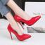 รองเท้าตัดชูปลายแหลมทรงสวยสีดำ/แดง/เทา/นู๊ด ไซต์ 34-39 thumbnail 14