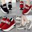 รองเท้าผ้าใบเสริมส้นสีแดง/ดำ/เทา ไซต์ 35-40 thumbnail 1