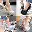 รองเท้าส้นสูงคัดชูสีฟ้า/ชมพู/ครีม/ดำ ไซต์ 34-43 thumbnail 1