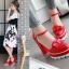 รองเท้าส้นสูงสีแดง/ครีม/ขาว/ดำ ไซต์ 34-39 thumbnail 5